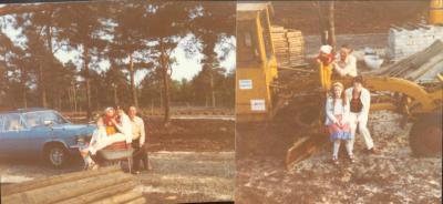Wir 1980 in unserer Heidelbeer-Plantage in Neustadt an der B 6